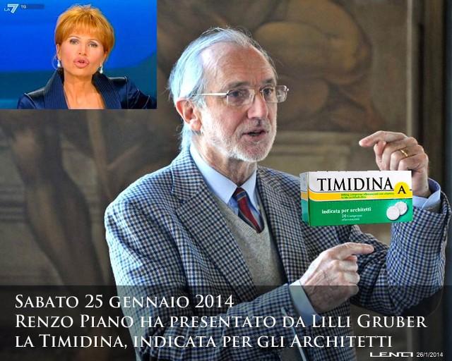 Renzo Piano, Ruggero Lenci, 26,1,2014