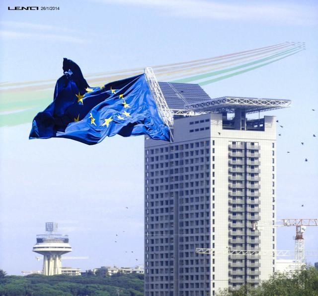 Torre Eurosky con bandiera Europa, Ruggero Lenci