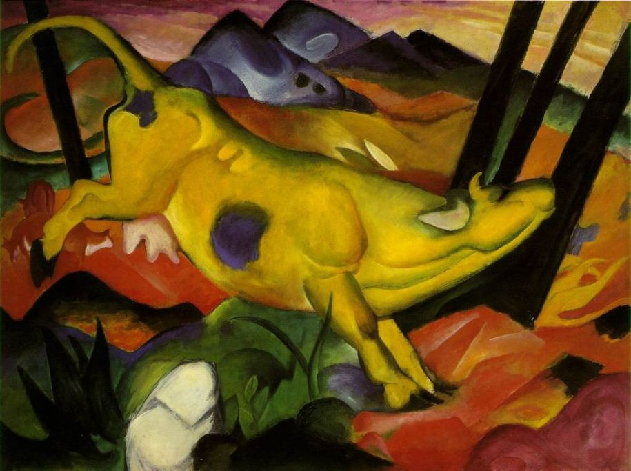1024px-Franz_Marc-The_Yellow_Cow-1911