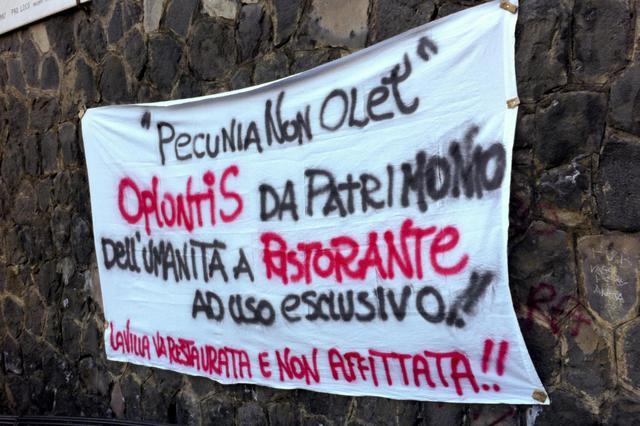 A Oplontis Villa Poppea per party aziendale, polemiche