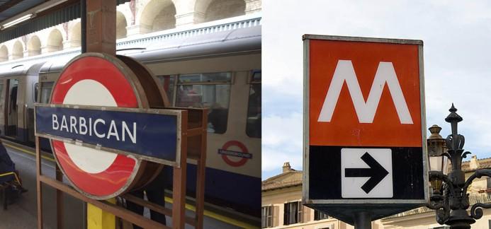 Stazione di Barbican a Londra e M romana, Ruggero Lenci