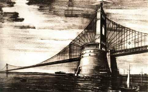"""Il """"Ponte Omerico"""" sullo stretto di Armando Brasini"""
