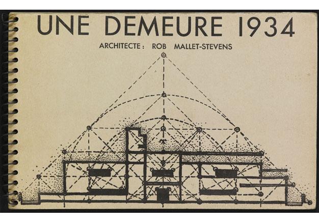 """Couverture du """"Une Demeure 1934"""", Boulogne, Ed. de l'Architecture d'Aujourd'hui, 1934."""