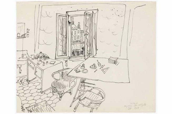 SAUL STEINBERG - My room-Bar Grillo 1937.jpeg