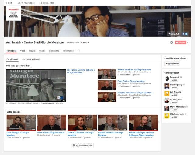 Canale Youtube Centro Studi Giorgio Muratore