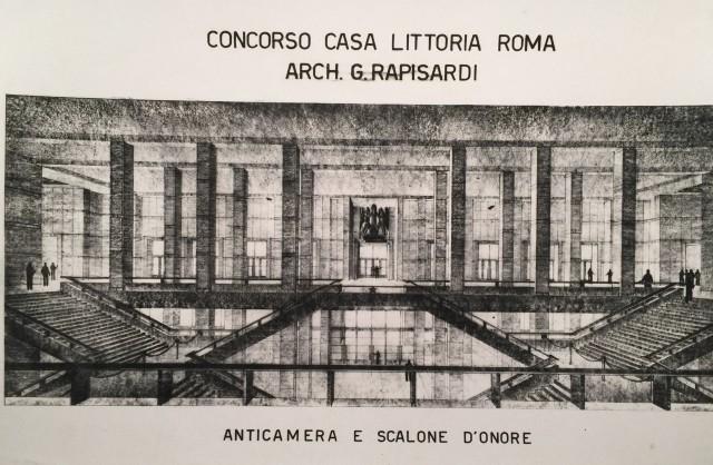 interno progetto casa littoria roma 1933-1934