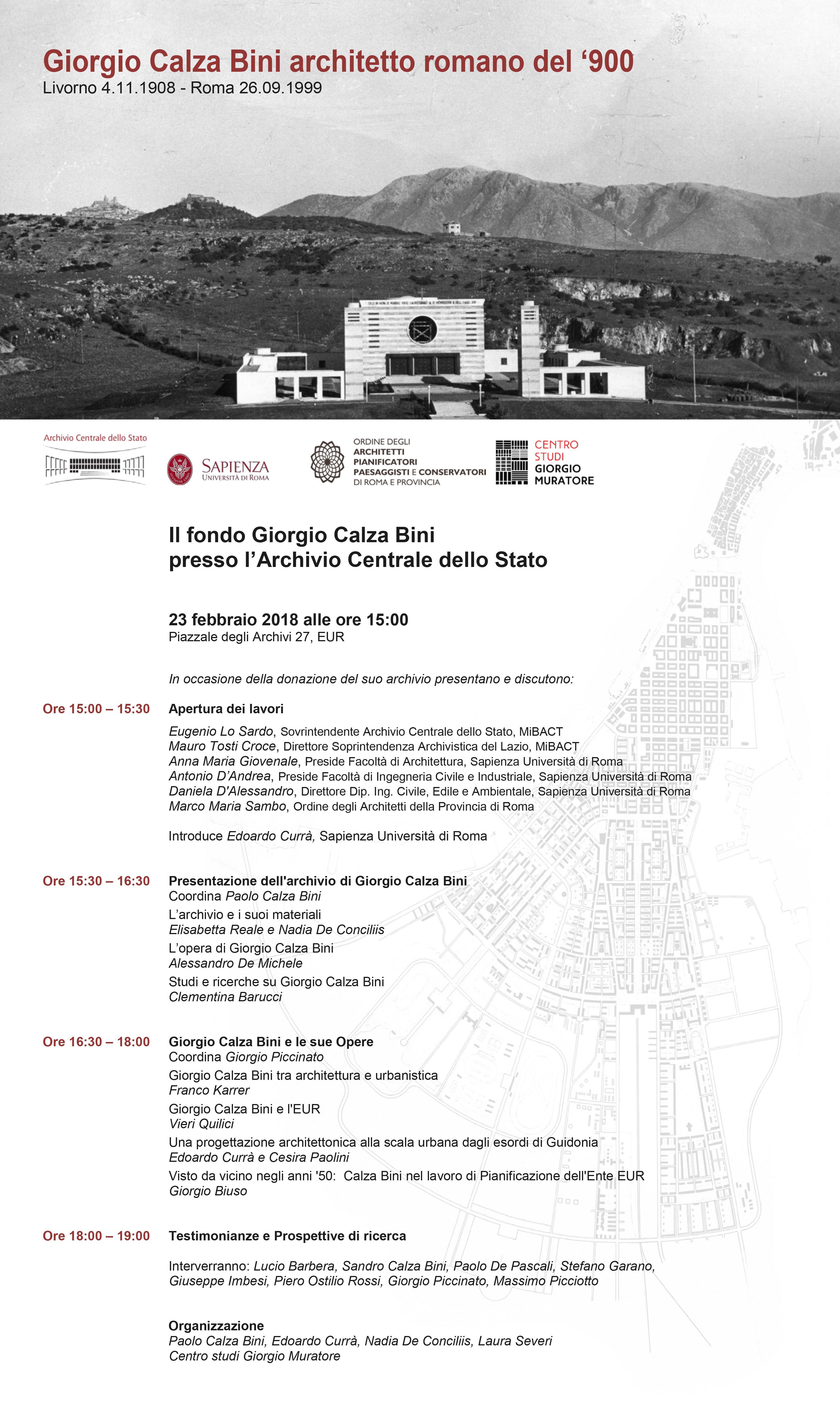 Giorgio calza bini architetto romano del 900 presentazione in occasione della donazione del - Portale architetti roma ...