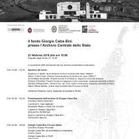 Giorgio Calza Bini architetto Romano del '900. Presentazione in occasione della donazione del Fondo Giorgio Calza Bini presso l'Archivio Centrale dello Stato