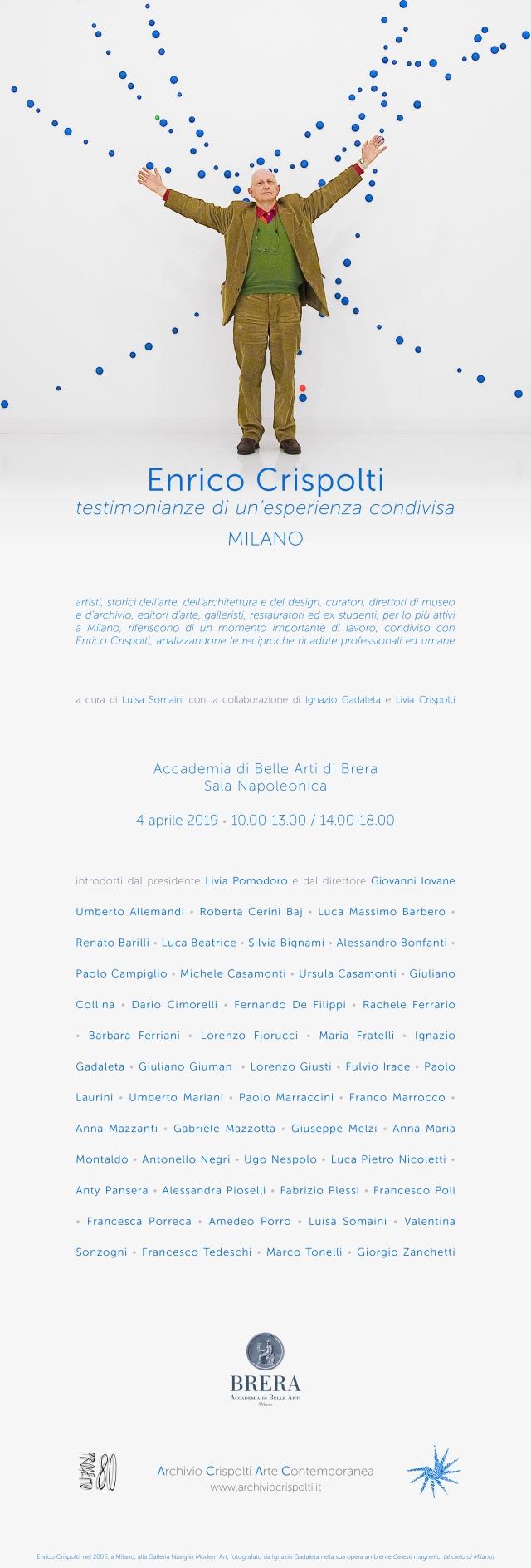 Enrico Crispolti Milano 4_04_2019 INVITO